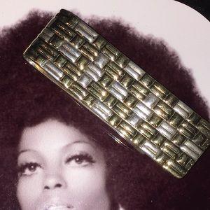 VTG Tiffany & Co weave pattern money clip